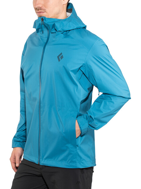Black Diamond Stormline Stretch Rain Shell Jacket Men Kingfisher